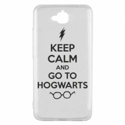 Чехол для Huawei Y6 Pro KEEP CALM and GO TO HOGWARTS - FatLine