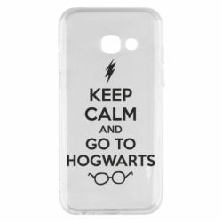 Чехол для Samsung A3 2017 KEEP CALM and GO TO HOGWARTS