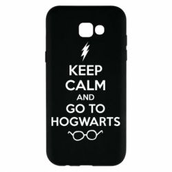 Чехол для Samsung A7 2017 KEEP CALM and GO TO HOGWARTS - FatLine