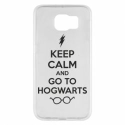 Чехол для Samsung S6 KEEP CALM and GO TO HOGWARTS - FatLine