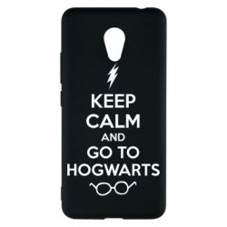 Чехол для Meizu M5c KEEP CALM and GO TO HOGWARTS - FatLine