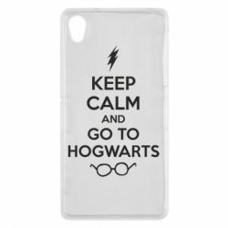 Чехол для Sony Xperia Z2 KEEP CALM and GO TO HOGWARTS - FatLine