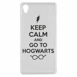 Чехол для Sony Xperia Z3 KEEP CALM and GO TO HOGWARTS - FatLine