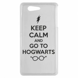 Чехол для Sony Xperia Z3 mini KEEP CALM and GO TO HOGWARTS - FatLine