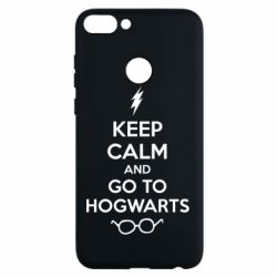 Чехол для Huawei P Smart KEEP CALM and GO TO HOGWARTS - FatLine