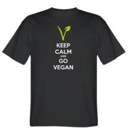 Футболка Keep calm and go vegan