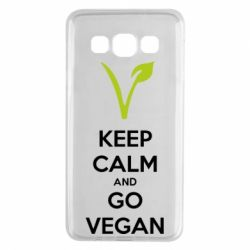 Чехол для Samsung A3 2015 Keep calm and go vegan