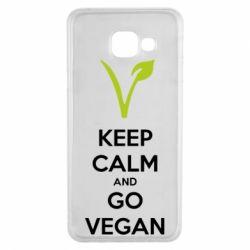 Чехол для Samsung A3 2016 Keep calm and go vegan