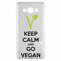 Чехол для Samsung A5 2015 Keep calm and go vegan