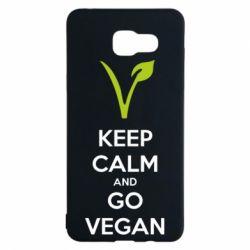 Чехол для Samsung A5 2016 Keep calm and go vegan