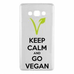 Чехол для Samsung A7 2015 Keep calm and go vegan