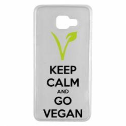 Чехол для Samsung A7 2016 Keep calm and go vegan