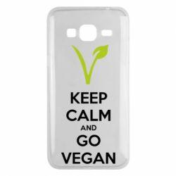 Чехол для Samsung J3 2016 Keep calm and go vegan