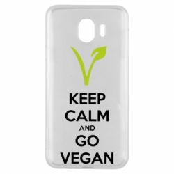 Чехол для Samsung J4 Keep calm and go vegan