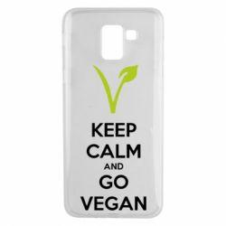 Чехол для Samsung J6 Keep calm and go vegan