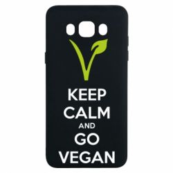 Чехол для Samsung J7 2016 Keep calm and go vegan