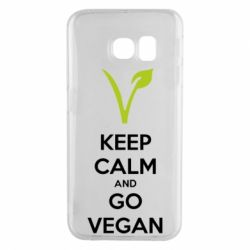 Чехол для Samsung S6 EDGE Keep calm and go vegan