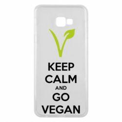 Чехол для Samsung J4 Plus 2018 Keep calm and go vegan