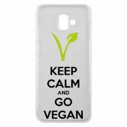 Чехол для Samsung J6 Plus 2018 Keep calm and go vegan