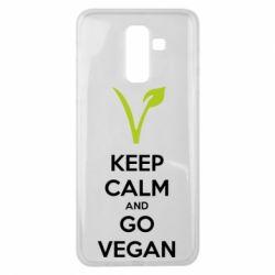 Чехол для Samsung J8 2018 Keep calm and go vegan