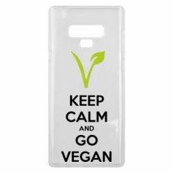 Чехол для Samsung Note 9 Keep calm and go vegan