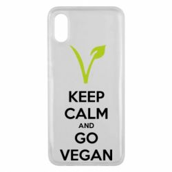 Чехол для Xiaomi Mi8 Pro Keep calm and go vegan