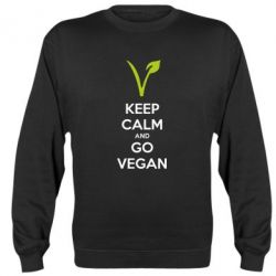Реглан (свитшот) Keep calm and go vegan - FatLine