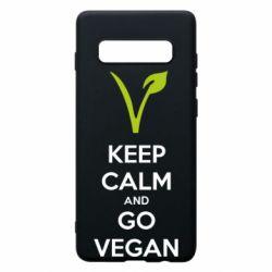 Чехол для Samsung S10+ Keep calm and go vegan