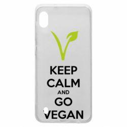 Чехол для Samsung A10 Keep calm and go vegan