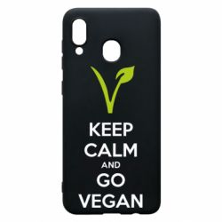 Чехол для Samsung A20 Keep calm and go vegan