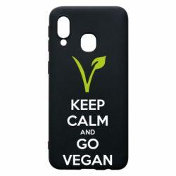 Чехол для Samsung A40 Keep calm and go vegan