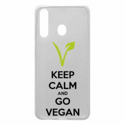 Чехол для Samsung A60 Keep calm and go vegan