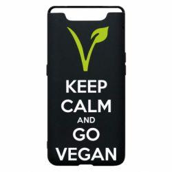 Чехол для Samsung A80 Keep calm and go vegan