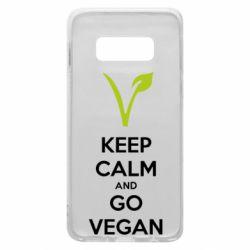 Чехол для Samsung S10e Keep calm and go vegan