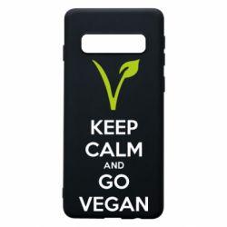 Чехол для Samsung S10 Keep calm and go vegan