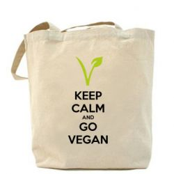 Сумка Keep calm and go vegan