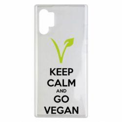 Чехол для Samsung Note 10 Plus Keep calm and go vegan