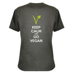Камуфляжная футболка Keep calm and go vegan - FatLine
