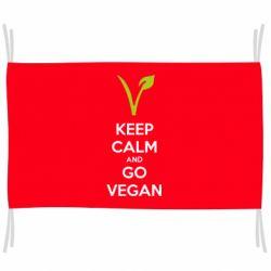 Флаг Keep calm and go vegan