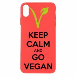 Чехол для iPhone X/Xs Keep calm and go vegan