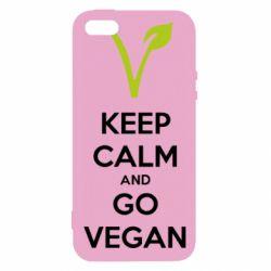 Чехол для iPhone5/5S/SE Keep calm and go vegan
