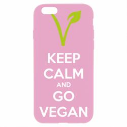 Чехол для iPhone 6/6S Keep calm and go vegan