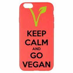 Чехол для iPhone 6 Plus/6S Plus Keep calm and go vegan