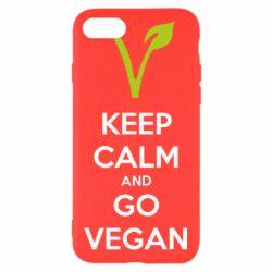Чехол для iPhone 7 Keep calm and go vegan
