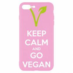 Чехол для iPhone 7 Plus Keep calm and go vegan
