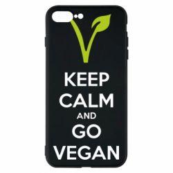 Чехол для iPhone 8 Plus Keep calm and go vegan