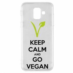 Чехол для Samsung A6 2018 Keep calm and go vegan