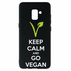 Чехол для Samsung A8+ 2018 Keep calm and go vegan
