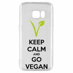 Чехол для Samsung S7 Keep calm and go vegan