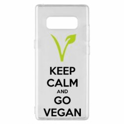 Чехол для Samsung Note 8 Keep calm and go vegan